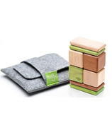 Tegu Original Pocket Pouch Magnetic Wooden Block Set - Jungle