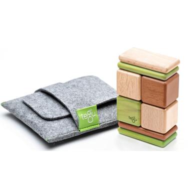 Tegu Original Pocket Pouch Magnetic Wooden Block Set Jungle