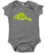 Little Orchard Co. Be Brave Onesie Grey