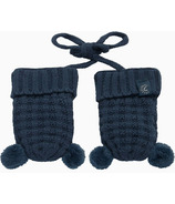 Calikids 100% Cotton Knit Mitts with Pom Poms