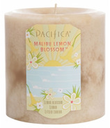 Pacifica Pillar Candle Malibu Lemon Blossom