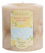 Pacifica Pillar Candle Malibu Lemon Blossom