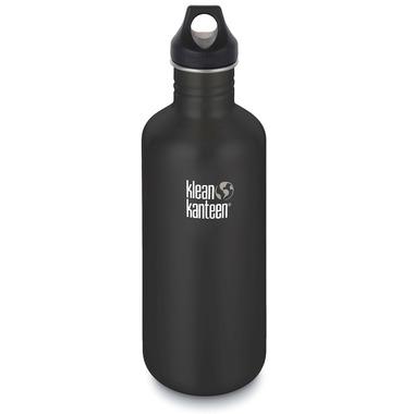 Klean Kanteen Classic Bottle with Loop Cap Shale Black