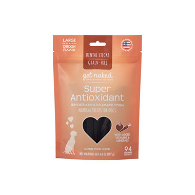 Natural Polymer Int. Get Naked Super Antioxidant Large Chew Sticks for Dogs