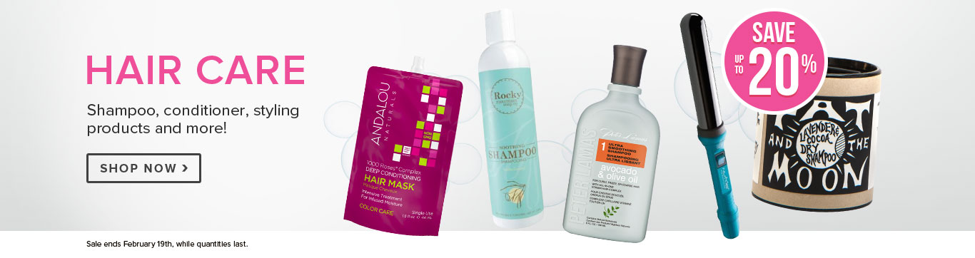 Save up to 25% on Hair Care