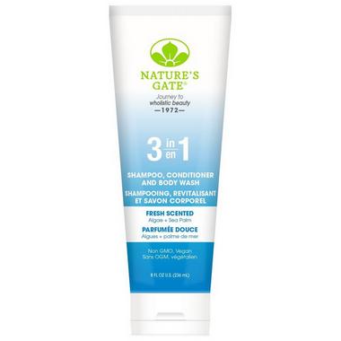 Nature\'s Gate 3 in 1 Shampoo, Conditioner & Body Wash Fresh Scented