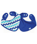 Bumkins Waterproof Bandana Bib Blue Chevron