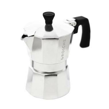 GROSCHE Milano Silver Stovetop Espresso Maker