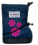 Stonz 60's Flower Navy Blue Toddler Booties