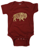 Little Orchard Co. Strong & Free Onesie Burgundy