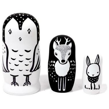 Wee Gallery Nesting Dolls Woodland Creatures