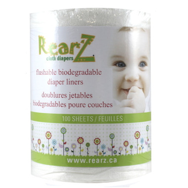 RearZ Flushable Biodegradable Diaper Liners