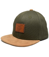 L&P Apparel Brooklyn Snapback Hat Khaki & Caramel