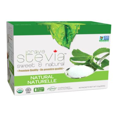 Crave Stevia Sweet and Natural Stevia Natural Packets