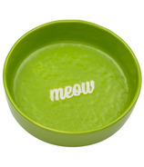 Ore' Pet Etched Meow Bowl Green