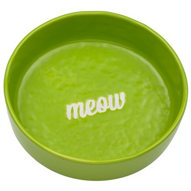 Ore\' Pet Etched Meow Bowl Green