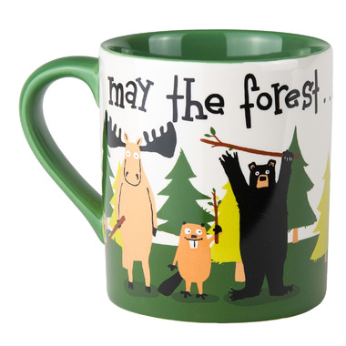 Little Blue House Ceramic Mug May the Forest Be With You