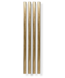 W&P 5 Inch Metal Straws Gold