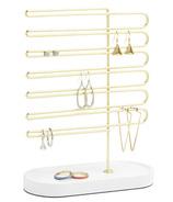 Umbra Trinket Earring Tree White/Brass