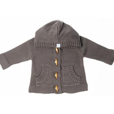 Beba Bean Knit Hoodie Grey