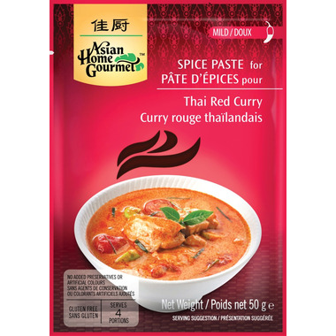 Asian Home Gourmet Thai Red Curry Spice Paste