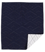 Living Textiles Cotton Poplin Quilted Comforter White & Navy