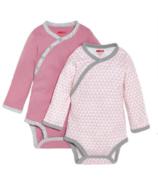 Skip Hop Petite Triangles Side-Snap Long Sleeve Bodysuit Pink