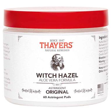 Thayers Original Witch Hazel with Aloe Vera Astringent Pads