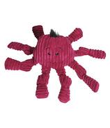 Hugglehounds Plush Corduroy Octo-Knotties Large Violet Dog Toy