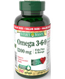 Nature's Bounty Omega 3-6-9 Fish, Flax, Borage