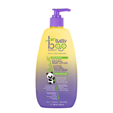 Boo Bamboo Baby Unscented Silky Smooth All Natural Baby Lotion