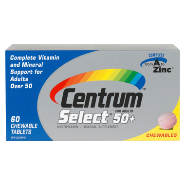 Centrum Select 50+ Chewable Multivitamin