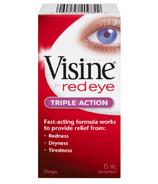 Visine For Red Eye Triple Action Eye Drops