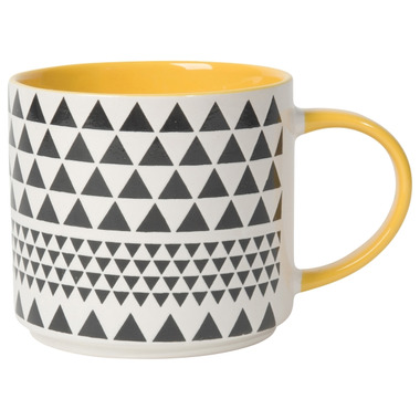 Now Designs Mug Stacking Geo Yellow