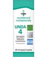 UNDA Numbered Compounds UNDA 4 Homeopathic Preparation