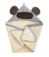 3 Sprouts Cotton Hooded Towel Gray Monkey