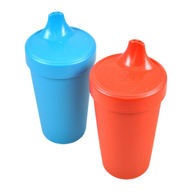Re-Play Spill Proof Cups Primary Red and Sky Blue