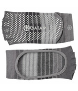 Gaiam Mary Jane Yoga Socks Small & Medium Grey & Black