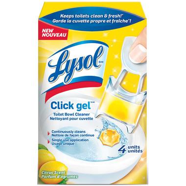 Lysol Click Toilet Bowl Cleaner Citrus