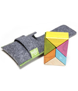 Tegu Pocket Pouch Prism Magnetic Wooden Block Set - Tints
