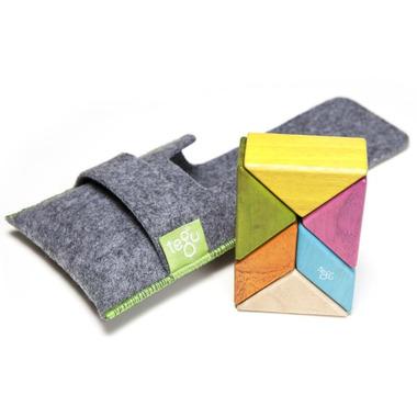 Tegu Pocket Pouch Prism Magnetic Wooden Block Set Tints
