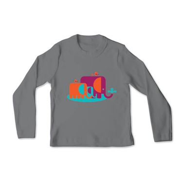 All Good Living Kids Elefunts Long Sleeve T-Shirt