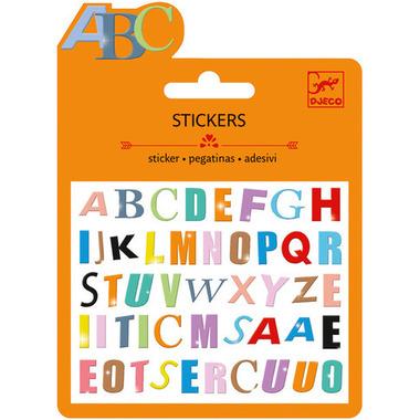 Djeco Mini Stickers Coloured Letters