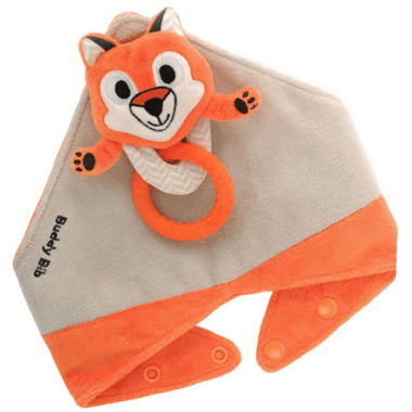 Buddy Bib 3-in-1 Sensory Teething Toy & Bib Fox
