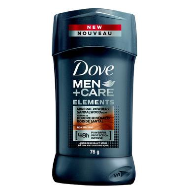 Dove Men+Care Elements Mineral Powder+Sandalwood Antiperspirant Stick