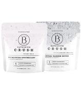 Bathorium CRUSH Charcoal Garden & Eucalyptus Apothecary Bath Soak Duo Pack