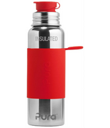 Pura Sport Insulated Water Bottle Red