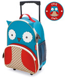Skip Hop Zoo Kids Rolling Luggage Owl