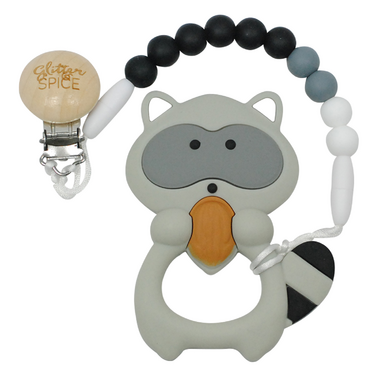 Glitter & Spice Racoon Teether