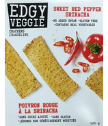 Edgy Veggie Crackers Sweet Red Pepper Sriracha